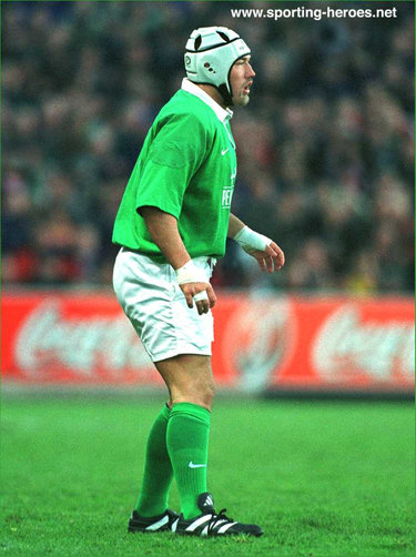 Justin Fitzpatrick - Ireland (Rugby) - International rugby matches for Ireland.