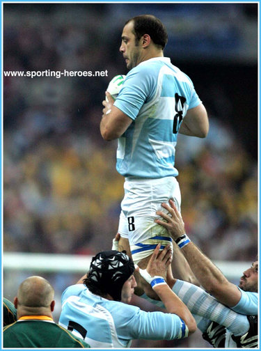 Gonzalo Longo - Argentina - 2007 Rugby World Cup games.