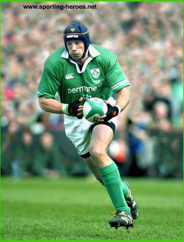 Alan Quinlan - Ireland (Rugby) - International Rugby Union Caps.