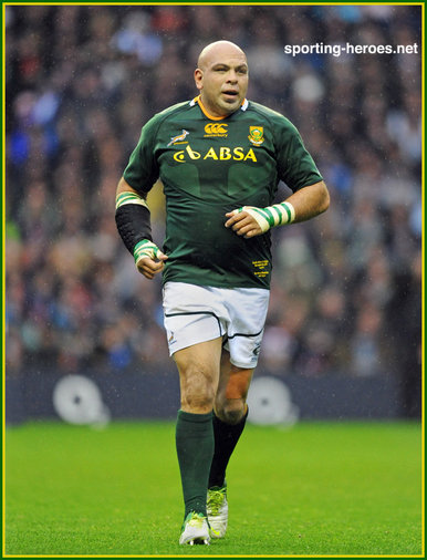 Gurthro Steenkamp - South Africa - International Rugby Union Caps.