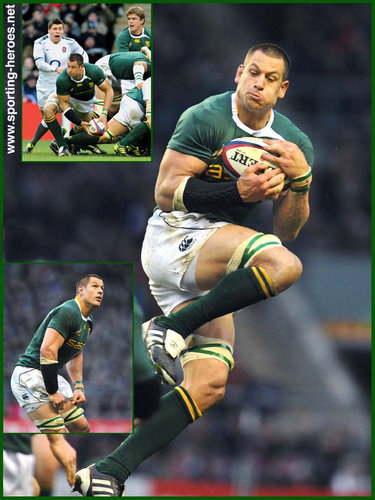 Pierre Spies - South Africa - South African International Rugby Caps.
