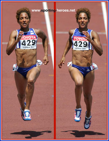 Christine Arron - France - 6th in the 100m at the 2007 World Championships