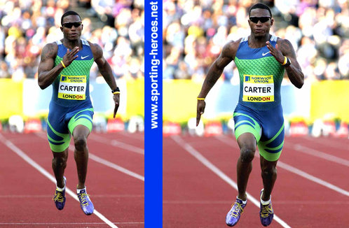 Xavier Carter - U.S.A. - 2nd fastest 200m run in history with 19.63 in July 2006 (result)