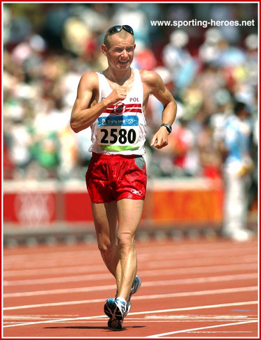 Rafal Fedaczynski - Poland - 8th in the 50km Walk at the 2008 Olympic Games.