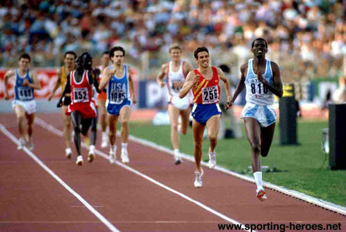 Jose Luis Gonzalez - Spain - 1500m silver medal at 1987 World Championships.