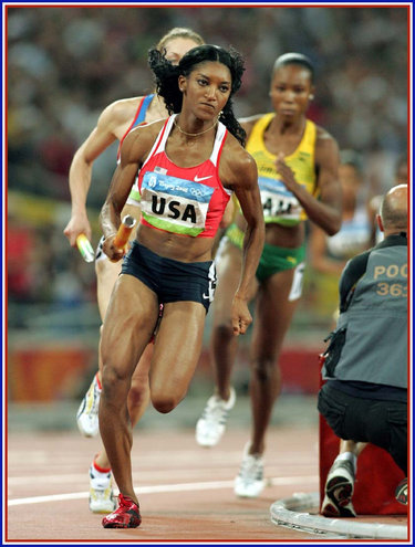 Monique Henderson - U.S.A. - 2008 Olympic Games 4x400m Gold medal.