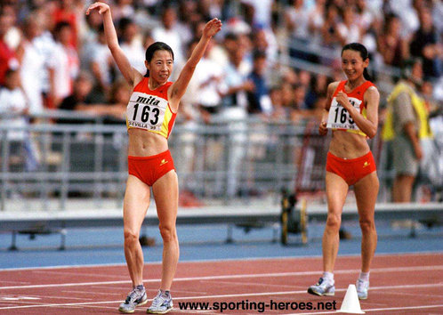 Liu Hongyu - China - 1999 World Championship 20km walk gold medal.