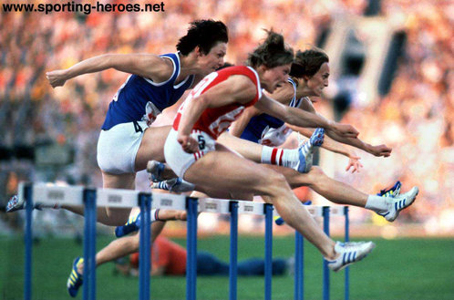 Johanna Klier - East Germany - 1980 Olympic 100m Hurdles silver
