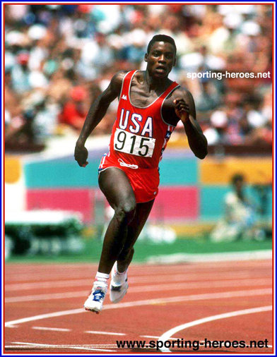 Carl Lewis - U.S.A. - Four Olympic gold medals