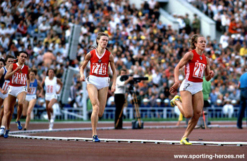 Nadezhda Olizarenko - U.S.S.R. - Olympic 800m gold on home soil in W.R. time