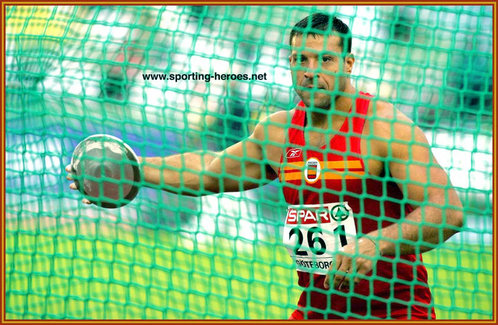 Mario Pestano - Spain - International athletics career in the discus.