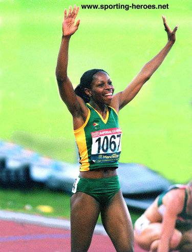 Aliann Pompey - Guyana - 400m Gold at 2002 Commonwealth Games.