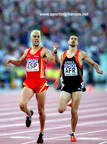 Antonio Manuel Reina - Spain - 800m winner at 2002 World Cup (result)