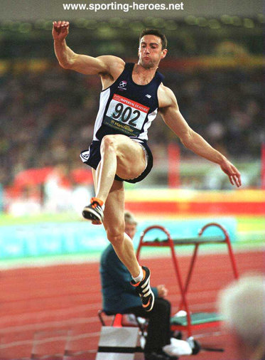 Darren Ritchie - Scotland - 4thy. in Long Jump at 2002 Commonwealth Games.