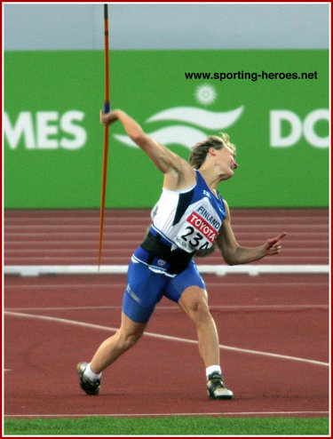 Paula Tarvainen - Finland - Sixth in the Javelin at the 2005 World Championships.
