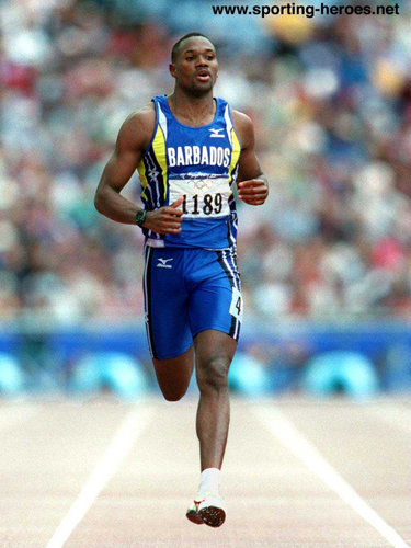 Obadele Thompson - Barbados - Olympic Games 100 metres bronze medal in 2000.