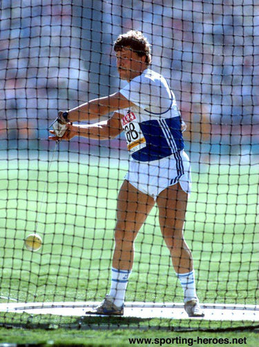 Juha Tiainen - Finland - Hammer gold medal at 1984 Olymic Games.