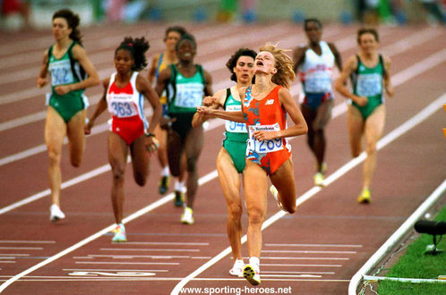 Ellen Van Langen - Netherlands - 1992 Olympic Games 800m Champion.