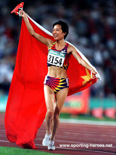 Wang Junxia - China - Olympic 5,000 & World 10,000 champion.