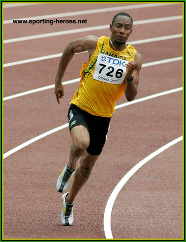 Christopher Williams - Jamaica - World Championships 200m finalist in 2001 & 2007.