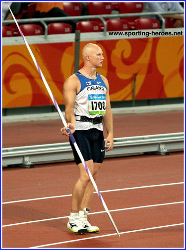 Teemu Wirkkala - Finland - 5th in the Javelin at the 2008 Olympic Games.