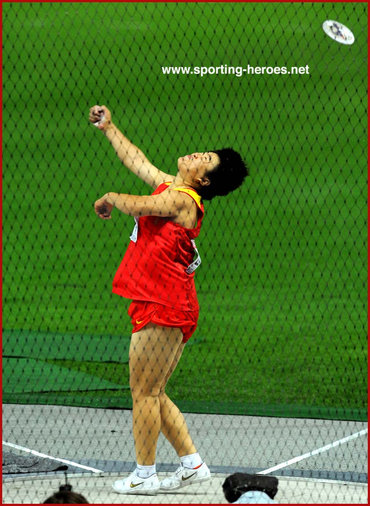 Aimin Song - China - Olympic Games and World Championship discus finalist.