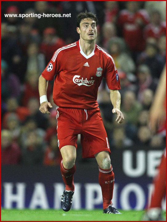 Albert Riera League Appearances For The Reds Liverpool Fc