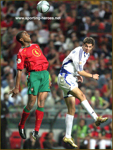 Jorge Andrade - Portugal - UEFA Campeonato do Europa 2004 (Final)