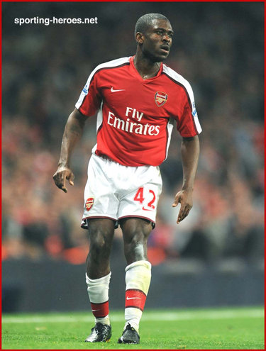 Kerrea Gilbert - Arsenal FC - League appearances.