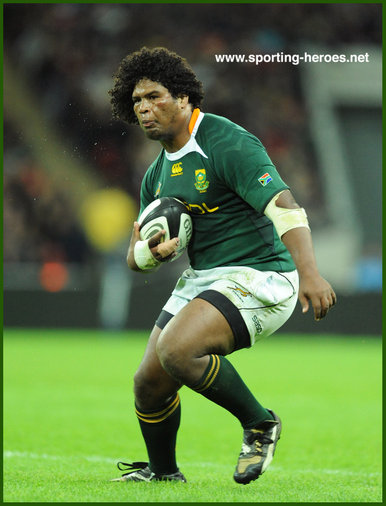 Ashley JOHNSON - South Africa - South Africa International rugby union caps.
