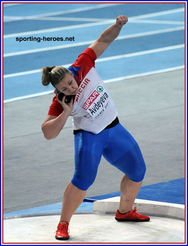 Anna Avdeeva - Russia - 2011 European Indoors Shot Put Gold