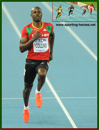Kim Collins - St Kitts & Nevis - Fourth medal at World Championships 100m.