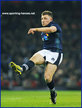 Duncan WEIR - Scotland - Scottish International Rugby Caps.