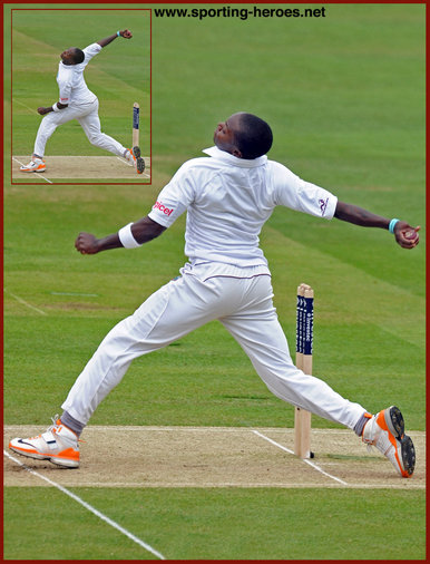 Fidel Edwards - West Indies - International Test Cricket Career for the West Indies.