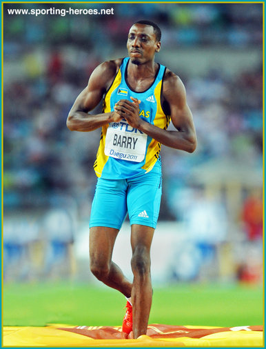 Trevor BARRY - Bahamas - 3rd. in the high jump at 2011 World Championships.