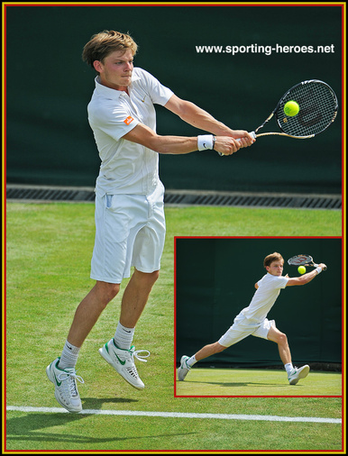 David GOFFIN - Belgium - Last sixteen at 2012 French Open.