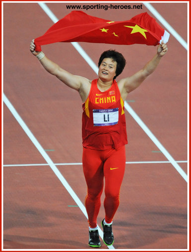 Yanfeng Li - China - 2011 World Championships discus Gold medal.