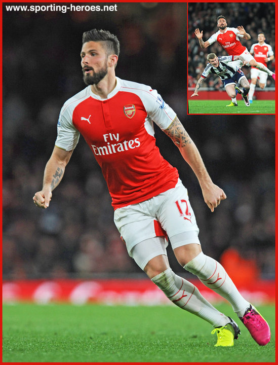pretty nice a31b4 3bf75 Olivier GIROUD - Premiership Appearances - Arsenal FC