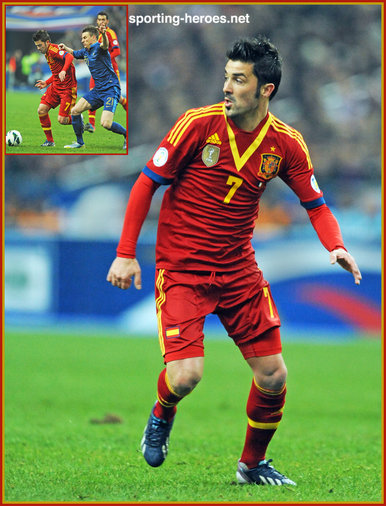 David Villa - Spain - 2014 World Cup Qualifying Matches  FIFA Copa del    David Villa 2014 World Cup