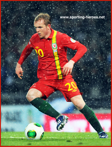 Jonathan WILLIAMS - Wales - 2014 World Cup Qualifying matches for Wales.