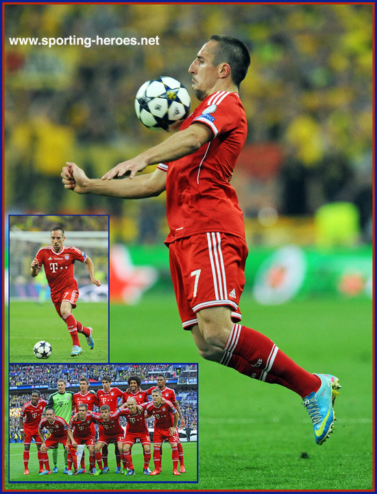 Franck ribery 2013 champion league final winner bayern munchen click on image to enlarge voltagebd Choice Image