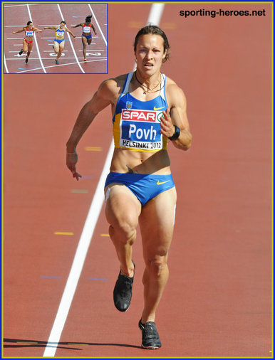Olesya POVH - Ukraine - 2012: Silver medal at European Champions.