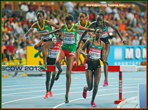 Milcah Chemos Cheywa - Kenya - 2013: Gold medal in steeplechase at World Championships.