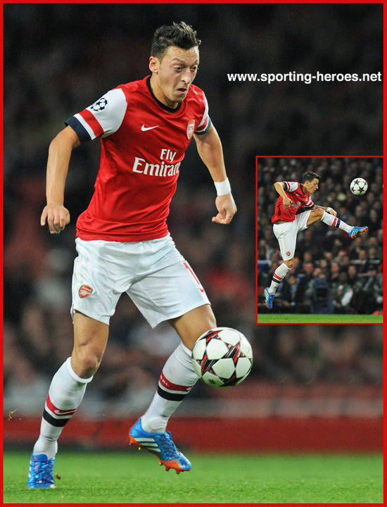 Mesut OZIL 201314 Champions League Matches Arsenal FC