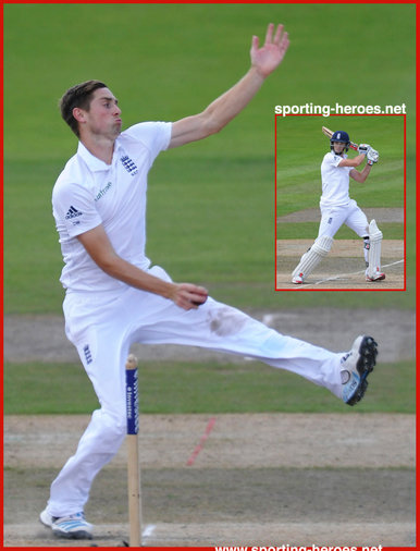 Chris WOAKES - England - International Test Cricket career for England.