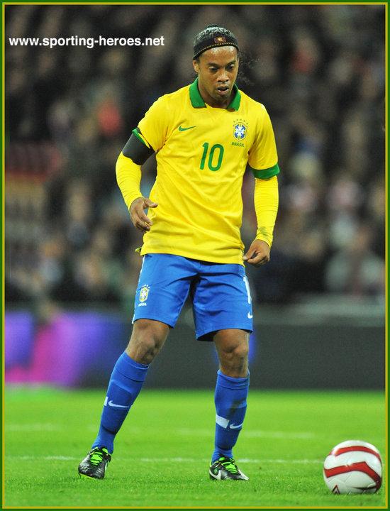 Ronaldinho International Football Matches For Brazil In