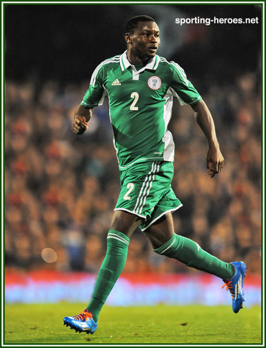 Godfrey OBOABONA - Nigeria - 2014 World Cup play-off games against Ethiopia.