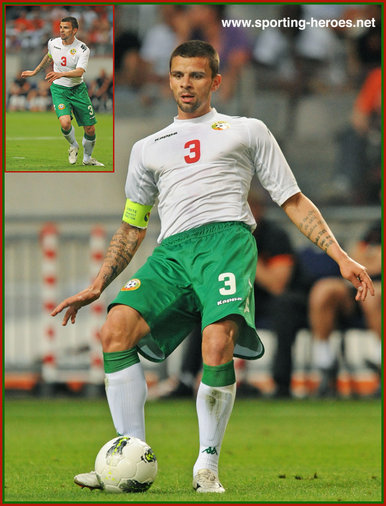 Valentin Iliev - Bulgaria - International football matches for Bulgaria in 2012.