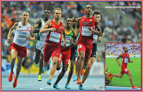Duane SOLOMON - U.S.A. - Sixth in 800 metres at 2013 World Championships in Moscow.