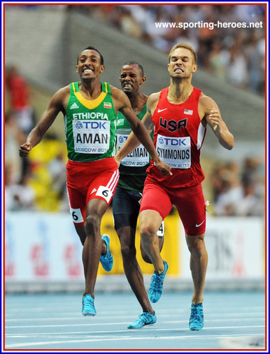 Nick Symmonds - U.S.A. - 2nd. in 800 metres at 2013 World Championships.